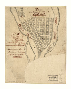 Plan and perspective view of Pittsburgh