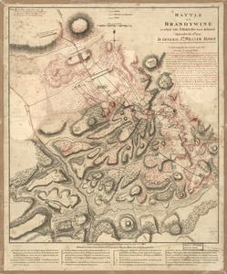Battle of Brandywine in which the Americans were defeated