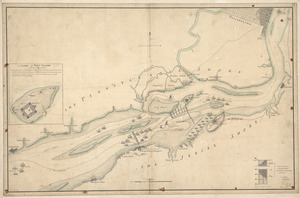 The course of Delaware River from Philadelphia to Chester, exhibiting the several works erected by the rebels to defend its passage