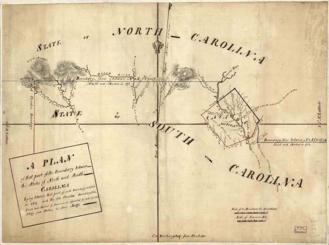 A Plan of that part of the boundary between the states of North and South Carolina