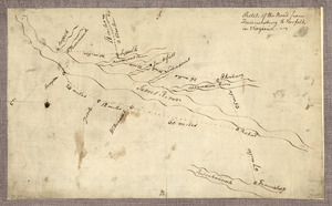 Sketch of the road from Fredericksburg to Norfolk in Virginia