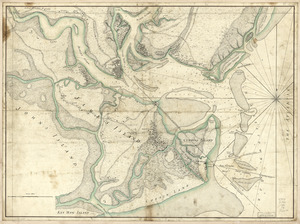 A plan of the town, bar, harbour, and environs of Charlestown in South Carolina