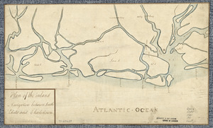 Plan of the inland navigation between South Edisto and Charlestown