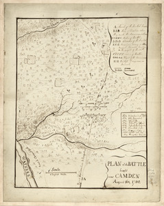 Plan of the battle fought near Camden, August 16th, 1780