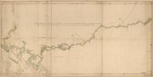 A map of Savannah River beginning at Stone-Bluff, or Nexttobethell, which continueth to the sea