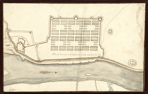 Plan of Savannah and its fortifications in 1782