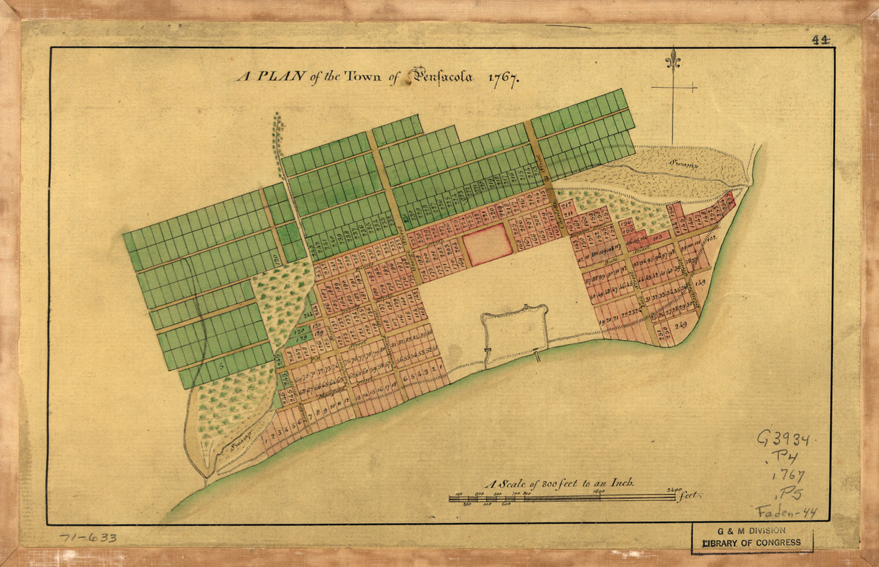 A Plan of the town of Pensacola, 1767