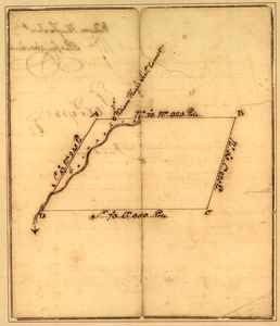 Plat of a survey for William Hughes, Jr. of 460 acres in Frederick County, Va. on the Cacapon River