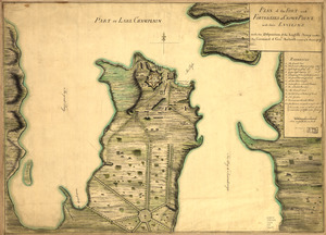 Plan of the fort and fortress at Crown Point with their environs