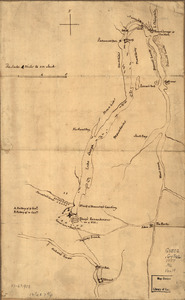 Plan of the attack on Fort William Henry and Ticonderoga