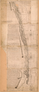 Chart of the sea coast from lattde. 26⁰20ʹ00ʺ to 26⁰ & 40ʹ00ʺ with the head of Sharkshead River ; Chart of New Inlet ; Chart of Midle Inlet ; Chart of Cape Florida, according to the surveys made May 13 & 29, 1765