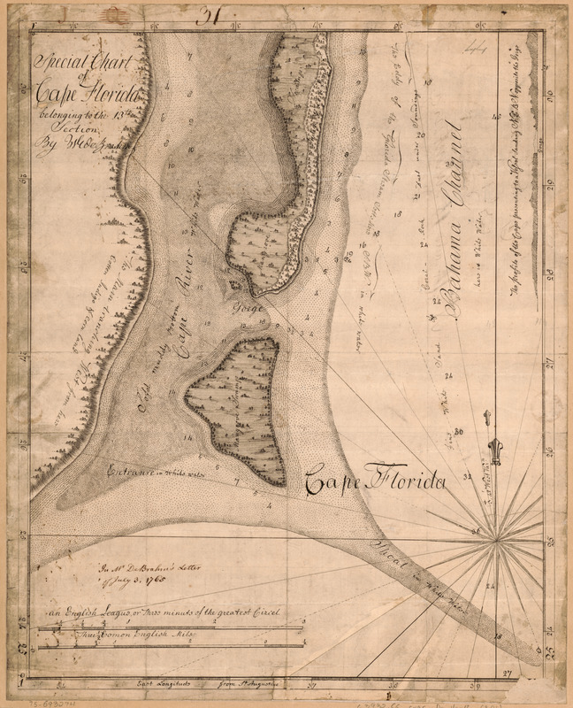 Special chart of Cape Florida belonging to the 13th section