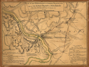 Plan of the operations of General Washington against the King's troops in New Jersey