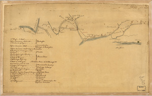 Map of British outposts between Burlington and New Bridge, New Jersey, December 1776