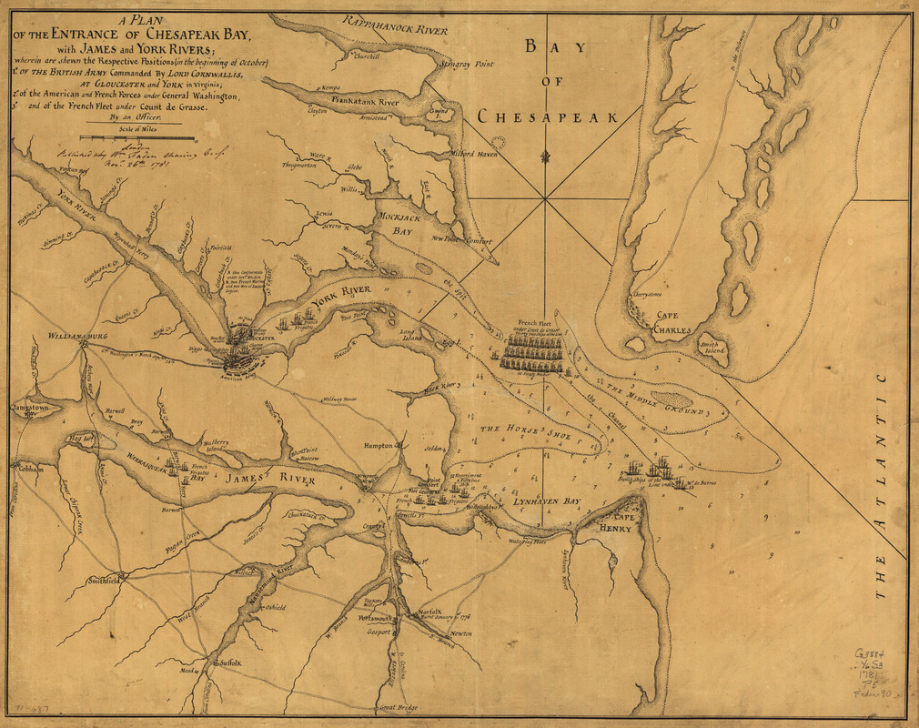 A Plan of the entrance of Chesapeak [sic] Bay, with James and York Rivers