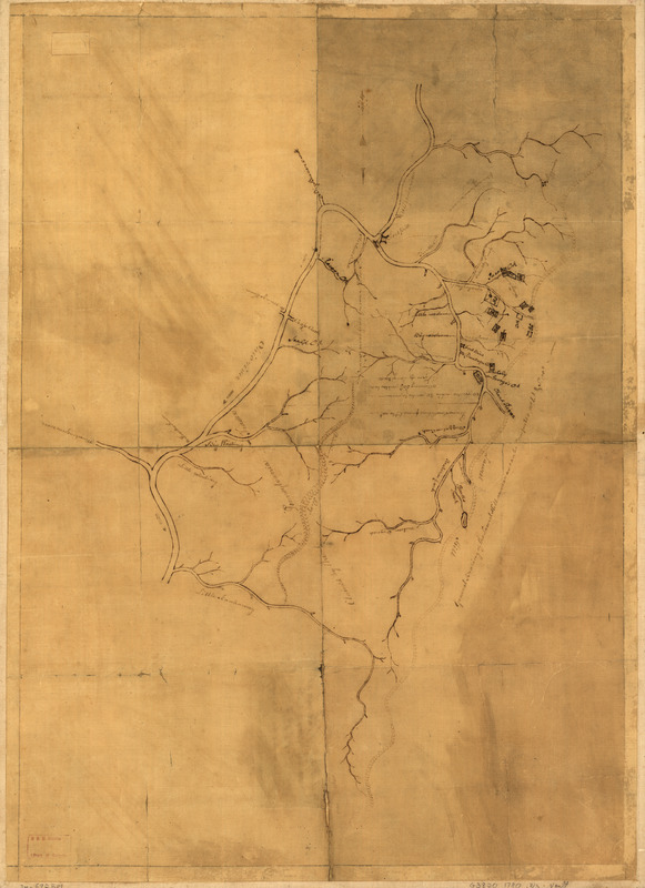 A map of the land abt. Red Stone and Fort Pitt
