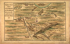 Captain Snow's scetch of the country by himself, and the best accounts he could receive from the Indian traders