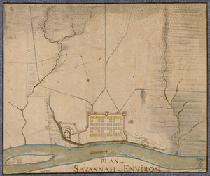 Plan of Savannah & its environs in 1782