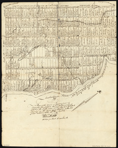 Plan of the Town of Turner, formerly Silvester Plantation