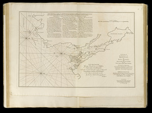 A chart of the harbour of Halifax in Nova Scotia