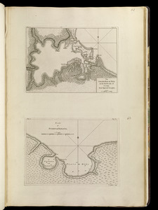 The grand bay of Nipe on the north side of Cuba from Spanish draughts ; Plan of Puerto de Baracoa