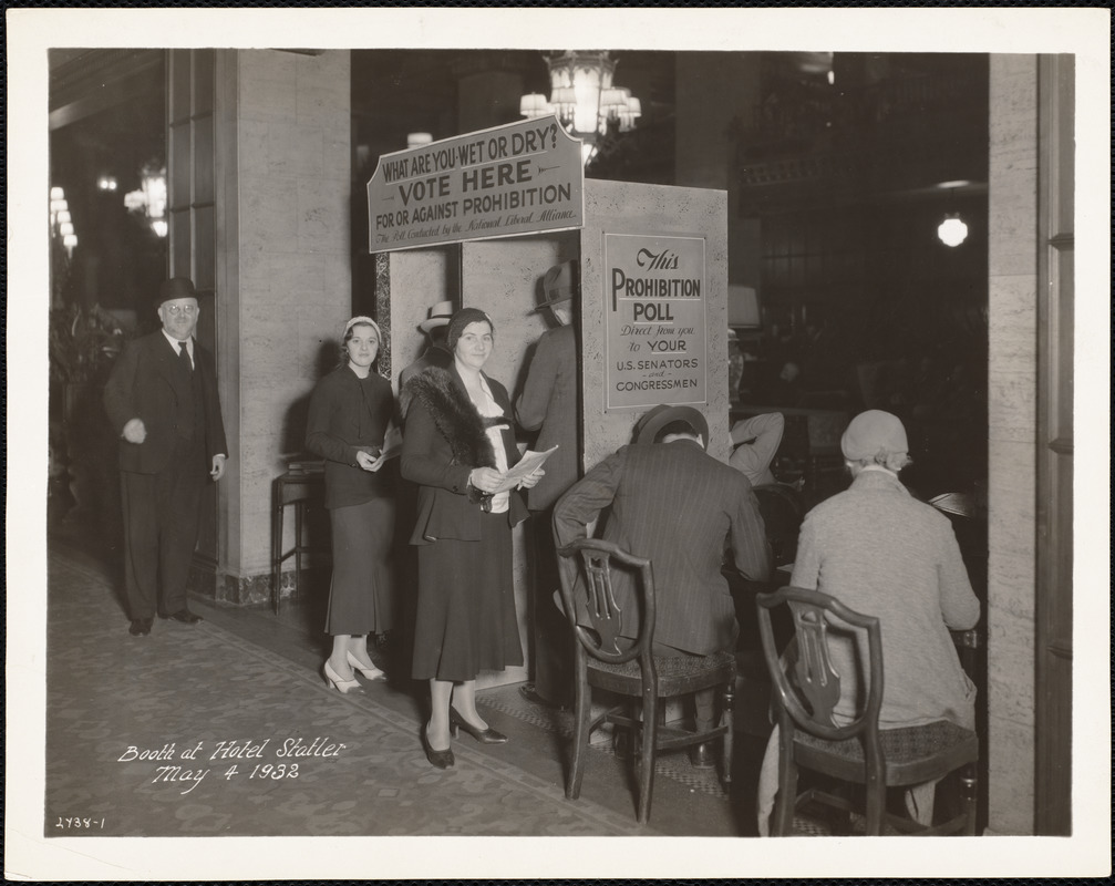 Booth at Hotel Statler, May 4, 1932