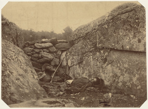 Dead rebel sharpshooter at Gettysburg