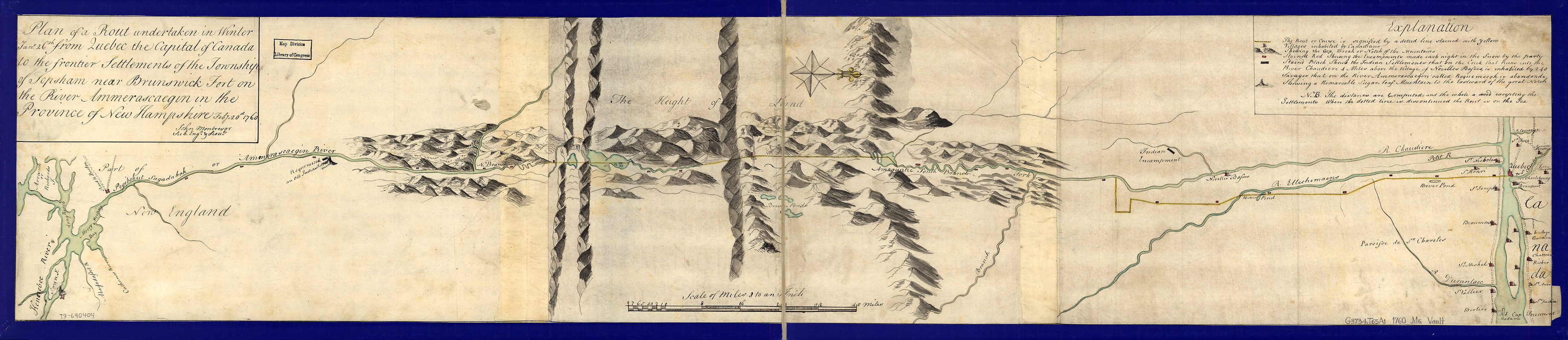 Plan of a rout undertaken in winter, Jany. 26th