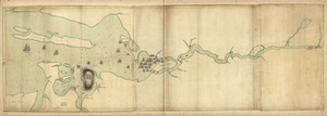 Penobscot River and Bay, with the operations of the English fleet, under Sir George Collyer