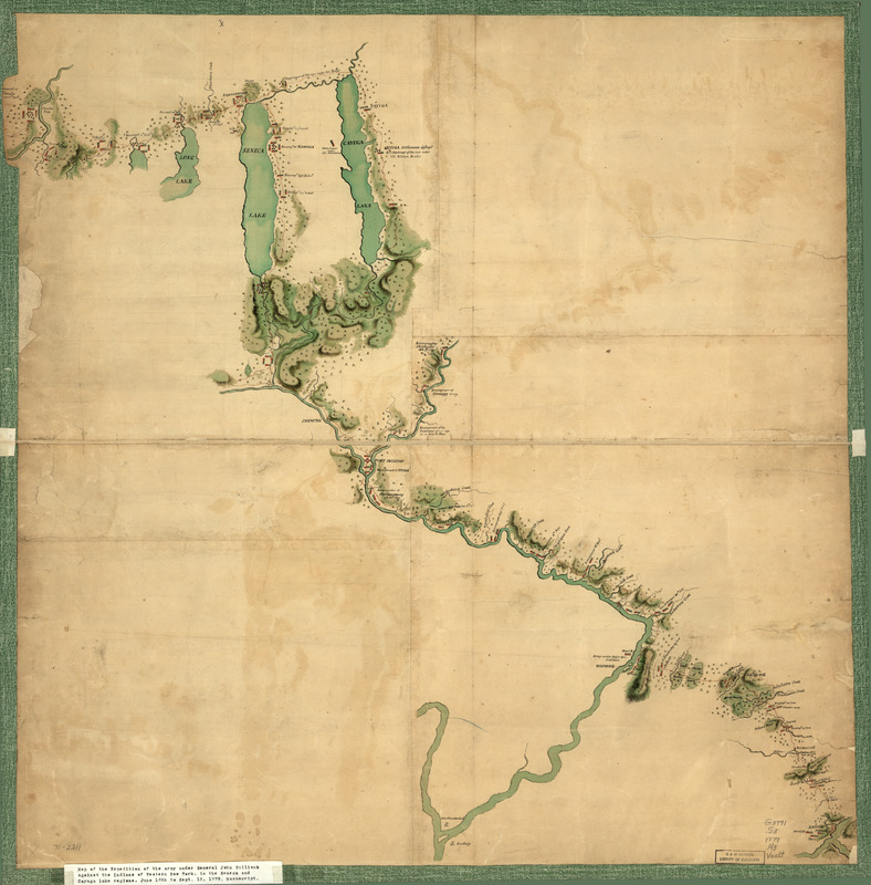 Map of Gen. Sullivan's march from Easton to the Senaca & Cayuga countries