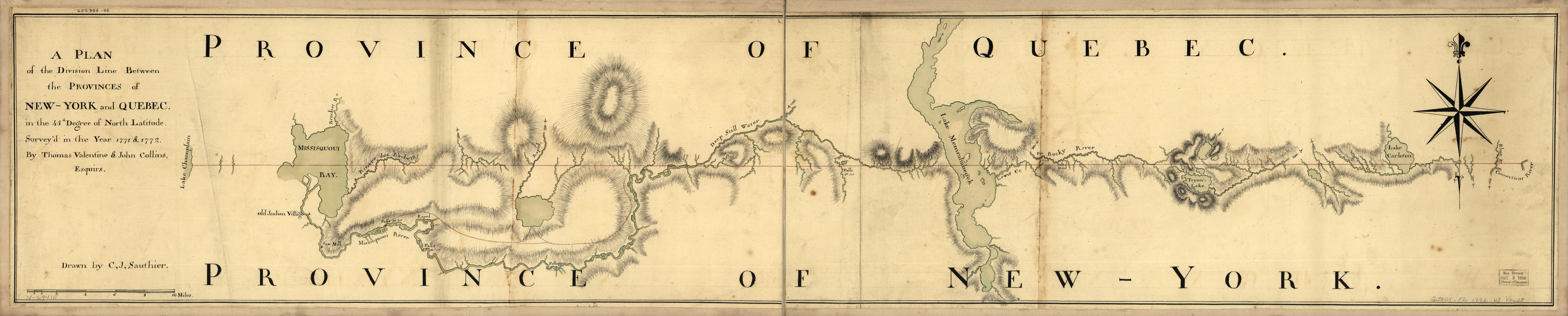 A plan of the division line between the provinces of New-York and Quebec
