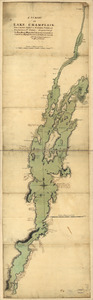 A survey of Lake Champlain, from Crown Point to Windmil Point, and from thence to St. Iohns