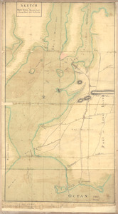 Sketch of New York, narrows & part of Long Island with the roads