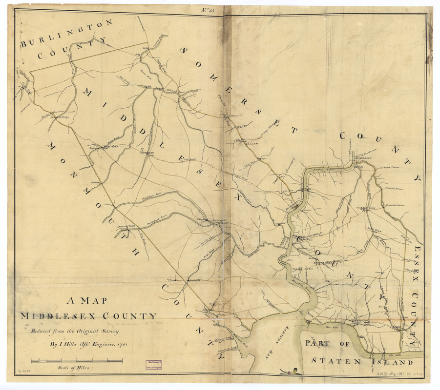 A map, Middlesex County