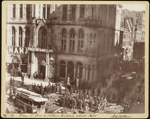 From 3rd floor of Pelham Building (about 12:45, corner of Tremont & Boylston Sts., Boylston Street explosion)