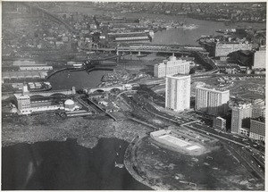 Aerial view of lower Charles River