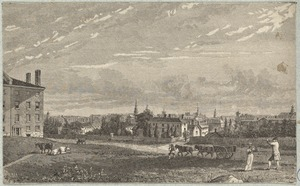 Boston, Massachusetts. View from Fort Hill, about 1806