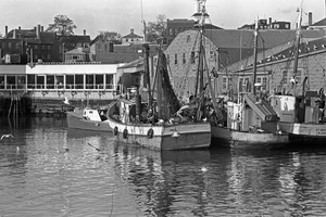 Fishing boat at pier, Gloucester