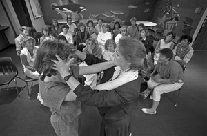 Women's self-defense class, Lesley College, Cambridge
