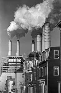 South Boston power plant and homes