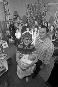 New baby at Christmas for big Catholic family, Malden
