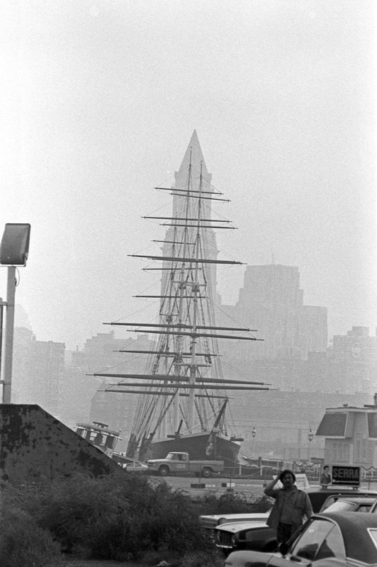 Ship Flying Cloud and Customs House, Boston