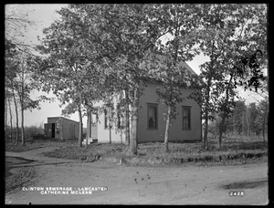 Clinton Sewerage, Catherine McLean's house, on the west side of High Street, corner of Mill Street, from the east and from the south, Lancaster, Mass., Nov. 7, 1898
