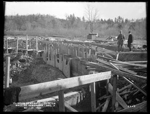 Clinton Sewerage, wall of reservoir, Section 2, Clinton, Mass., Nov. 21, 1898