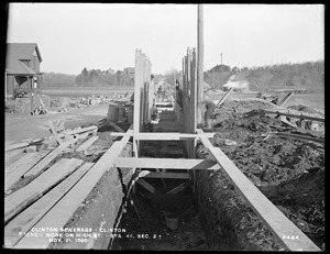 Clinton Sewerage, trench work on High Street, Section 2, station 44, Clinton, Mass., Nov. 21, 1898