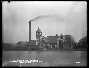 Distribution Department, Chestnut Hill High Service Pumping Station, from the west, Brighton, Mass., Apr. 14, 1899