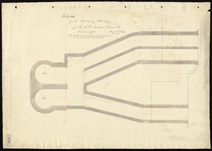 Sketch for the location of raceways for M. M. C. Turbines no 9 and 10