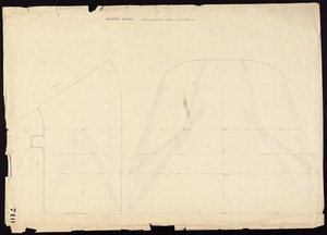 Hamilton trubine, plan of wrought iron flume