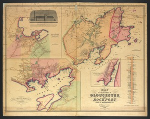Map of the towns of Gloucester and Rockport, Essex Co., Massachusetts