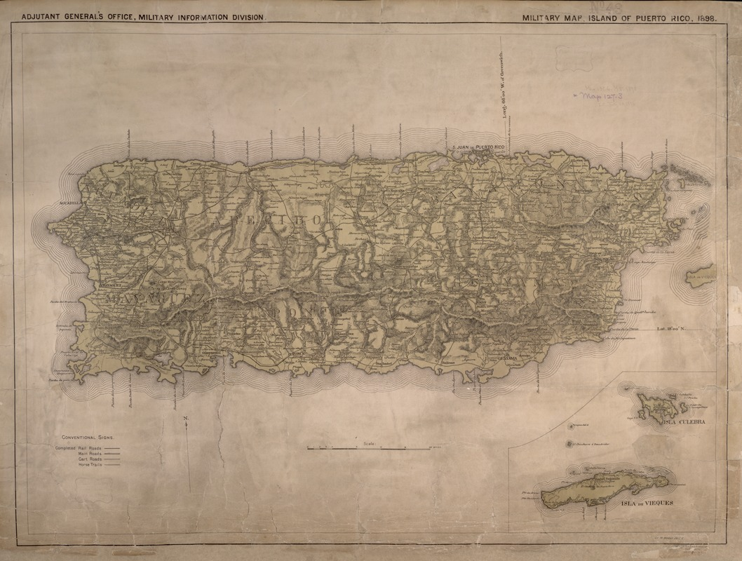 Military map, island of Puerto Rico
